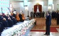 Sisi attends show by blind orchestra band