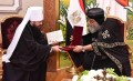 Pope Tawadros II receives Moscow Patriarch's envoy